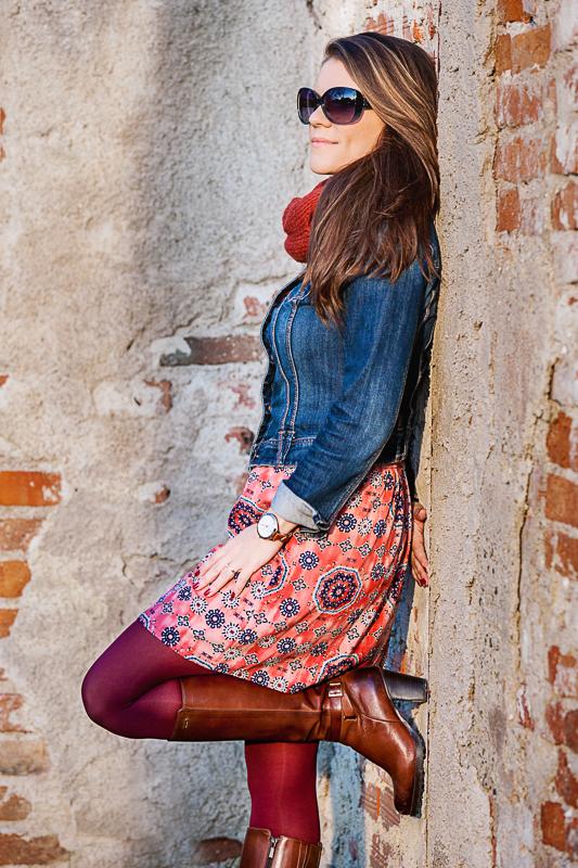 Boho Summer dress in fall