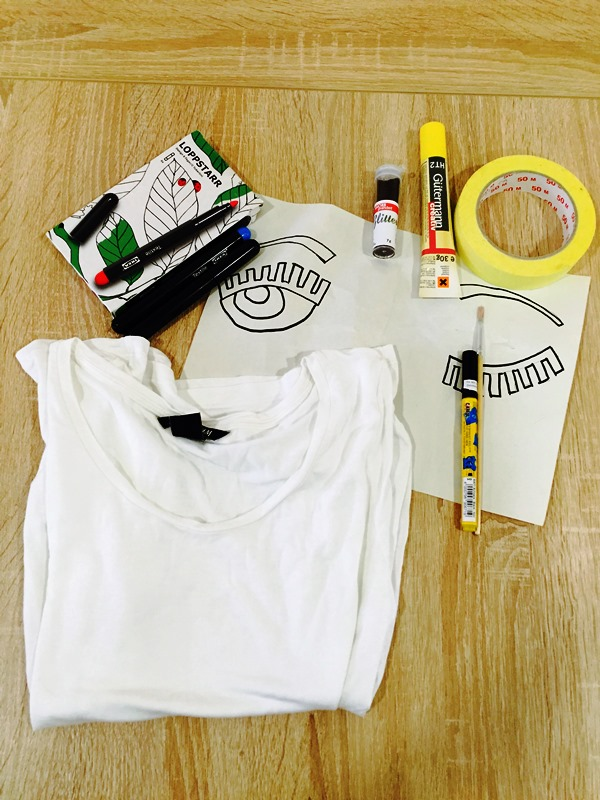 DIY: Flirting Eyes T-shirt | Chiara Ferragni