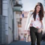 Leather Trousers & Floral Top + Bondiamo