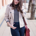 Flare Jeans & Cropped Trench
