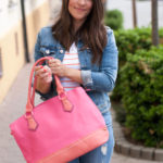 Stripes & Pink Handbag