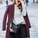 Grey Jumper & Wine Coat