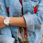 Embroidery Denim Jacket & Sunday Rose
